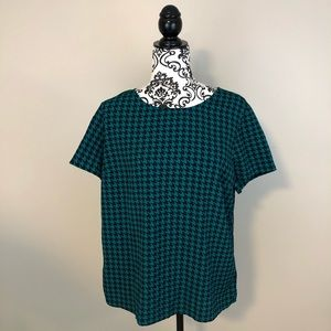 Tommy Hilfiger blue and green patterned shirt